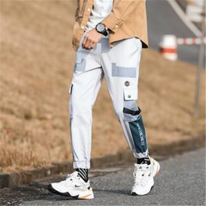 فضفاض عارضة الملابس الداخلية مصمم ذكر جديد متعدد جيوب منتصف الخصر لوح التزلج السراويل ملابس سروال الرجل الرباط الشحن موضة