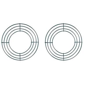 2 Confezione Filo Corona Wire-Frame Corona Fare Anelli Verde per Capodanno decorazione di San Valentino (8 pollici)