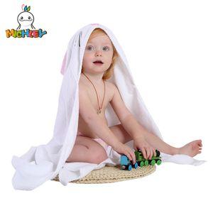 Yeni Tasarım Michley Çocuk Havlu Bebek% 100 Pamuk Bornoz Bebek Erkekler Kızlar Bahar Hayvan Kapşonlu Banyo Havlu Çocuk Karikatür Havlu