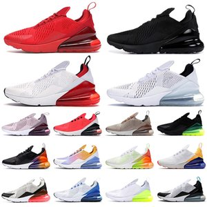 nike air max 270 airmax 270s shoes scarpe da corsa per uomo donna usa rainbow sneaker Black Cactus University Red Photo Blue sneaker sportive da uomo traspiranti all'aperto