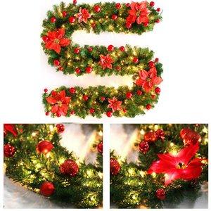 Christmas Decorations Garland Decoration Rattan Lights Wreath Mantel Fireplace Stairs Wall Door Pine Xmas Tree LED Light New