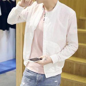 ZUkC9 verano nueva pareja Corea del estilo del juego de béisbol clothin béisbol ropa de protección solar protección solar ropa soporte chaqueta de cuello coa delgada g hombres