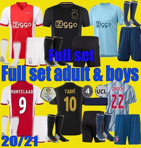 20 21 50 AJAX 타 디치 FC 셋째 축구 유니폼 2020 년 2021 PROMES 알바 레즈 NERES ZIYECH 남자 아이는 멀리 축구 셔츠 세트 유니폼 키트