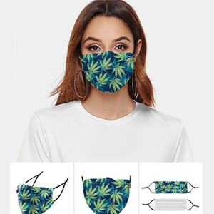DHL Livraison gratuite nouveaux adultes de mode masque facial design masques lavables respirant Customized belles feuilles de bambou Plant Masque Anti-poussière