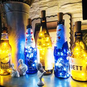 Noel Partisi Düğün Halloween için 2M 20LED Lambası Mantar Şeklinde Şişe Stopper Işık Cam Şarap LED Bakır Tel Işıklar