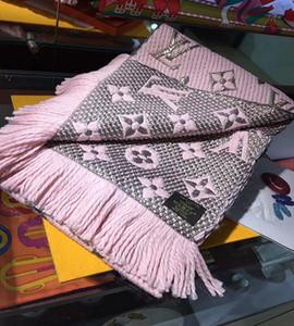 Winter Unisex 100% Wollschal klassische Brief Schal Damen und Jungen mit ursprünglichem Kasten Schal Schal Designer Schal Kaschmir