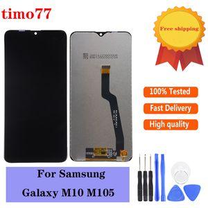 Pantalla LCD original para Samsung Galaxy M10 M10 2019 SM-105 M105F M105DS LCD de pantalla táctil digitalizador con vidrio templado regalo.