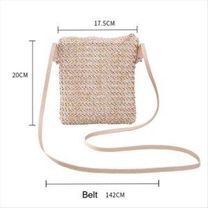 Fashion Women Straw Bag Summer Beach Woven Bag Shoulder Bag Crossbody Casual Drop Shipping