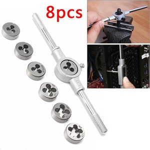 8pcs M3-M12 Manuale filettatura metrica spine Rubinetti chiave Die Dies discussione Giramaschi Set Metric Screw mano Tap