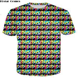 Neueste Marke 3D netten Panda-Druck buntes Shirt Print-Liebhaber-T-Shirt Kurzarm Rundhals Männer Frauen Tops Größe XS-7XL