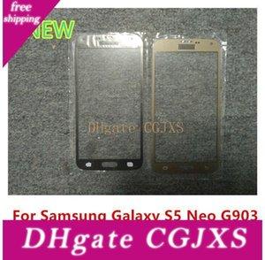 Para Samsung Galaxy S5 Neo G903 G903f G903w delantera exterior de la pantalla táctil sustitución de vidrio cubierta de la lente de alta calidad