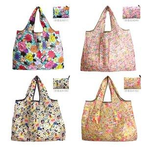 Plus Size dobrável Sacos Nylon impermeável de armazenamento bolsa Eco-Friendly Folding Bag Grocery Bag Multi Cores Tote E81802
