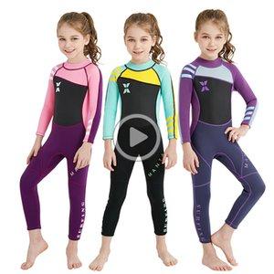 Neopren 2.5MM Voll Wetsuit Kinder Langarm-Badebekleidung Mädchen Rashgrd für Kinder Neoprenanzug Tauchanzug Kinder