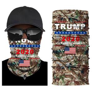 Trump Biden Cycling Masque Visage Bouclier Bandanas Foulards Drapeau américain Outdoor Balaclava Écharpe Turban 2020 Élection Sunscreen Riding Cap