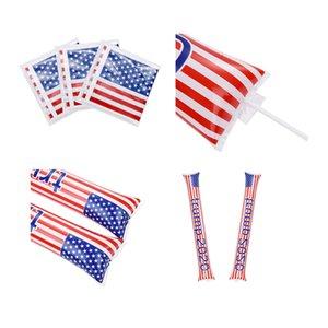Custom Design Amerikanische Flagge 2Pcs OPP Wiederverwendbare Biden Trump Präsidentschaftswahl Vote Compete Air Inflation Unterstützung Sticks