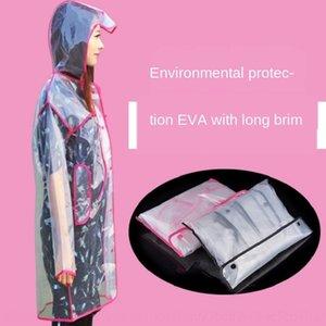 moda 7CW4o 1Omt8 Adulto longa capa de chuva Body Electric carroçaria do veículo Cloak roupa dos homens EVA transparente e capa de chuva macacão feminino