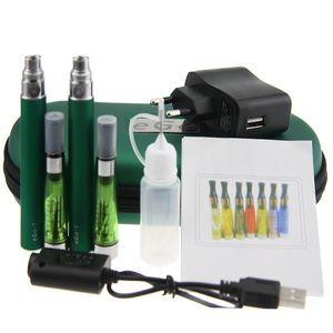 Double eGo CE4 Colorful Zipper ego case electronic cigarette starter kits with CE4 atomizer ego t battery mutli color optional Vape Pen