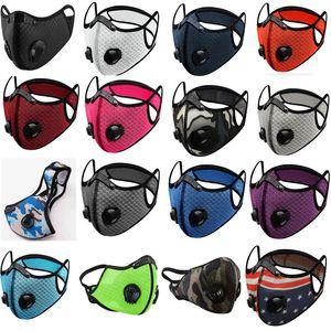 DHL FREE masque poussière / gaz Mesh avec couvercle anti-poussière, masque vélo protection de smog en plein air pour les hommes et les femmes réglable masque respiratoire
