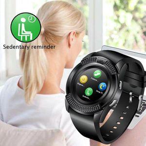 Смарт Часы V8 Мужчины Bluetooth Спортивные часы женщины дамы Rel Gio SmartWatch с щелевым камеры Sim карты для Android телефона PK DZ09 Y1 A1 (Розница)