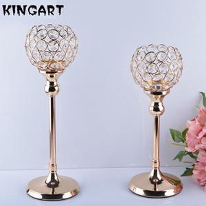 Golden Candle holders Wedding Candelabra Centerpieces Center Table Candlesticks Parties Home Decor Candle Holders