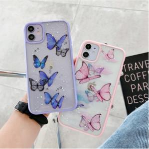 iphone 11 pro masx şeker akrilik toz kelebek için telefon kılıfı / 7 / 8plus / xr / xr maks / xs / iphone 11 için yumuşak kılıf se2020 xsmax