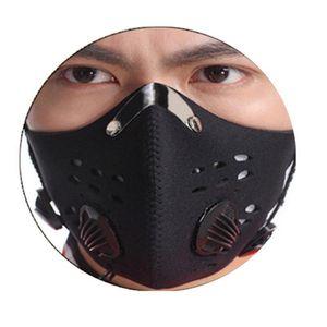 Wiederverwendbare Gesichtsmaske mit Filter Radsportsaktivkohleschicht Maske Staubdichtes Schutz Laufen Wandern Masken für Frauen Männer Facemask