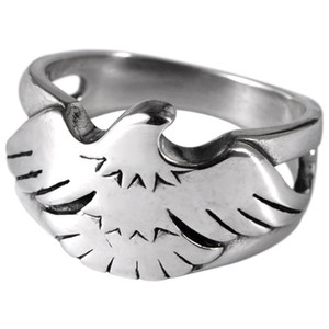 925 sterling silver retro Thai silver popular male silver ring eagle closed mouth fashion hip hop ring