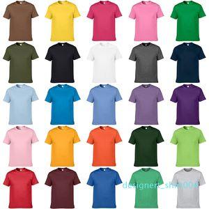 Unisex Teamwear Casual Artı boyutu Kısa Kollu Tişört Erkekler Kadınlar Çocuk Yaz Katı Pamuk Yuvarlak Yaka Tişört Kısa Kollu Düz Tee d04 için