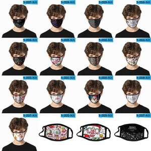 Christmas Face Masks Adults Kids Halloween Party Masks Anti Dust Reusable Washable Mouth Cover Xmas Face Masks CYZ2668 100Pcs