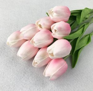 인공 꽃 미니 튤립 실크 인공 꽃 웨딩 장식 인공 꽃 꽃다발 홈 정원 장식 튤립 선물 OWF855