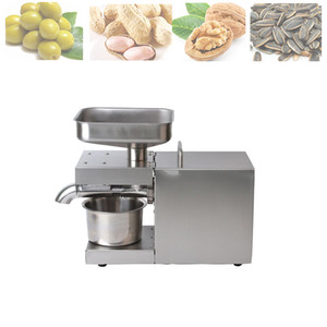 Temperature Controlled Stainless Steel Oil Press Family Small Electric Cold Pressed Automatic Peanut Coconut
