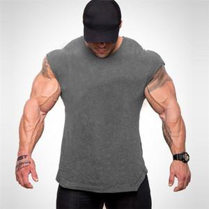 New Brand Gyms Clothing Fitness Men Tank Top Canotta Bodybuilding Stringer Tanktop Workout Singlet Sleeveless Shirt