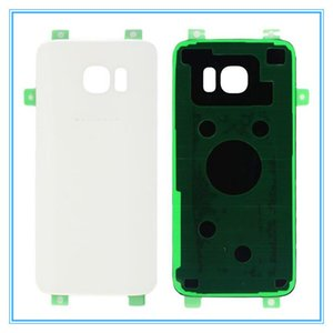 Cgjxsoriginal New Glass Rear Battery Door With Sticker For Samsung Galaxy S7 Edge G935 G935f Back Cover Housing Case Replacement Parts