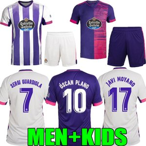 filhos adultos 20 21 Real Valladolid soccer casa longe jersey 2020 2021 FEDE S. R. Alcaraz Sergi Guardiola Óscar Plano menino roxo camisa de futebol