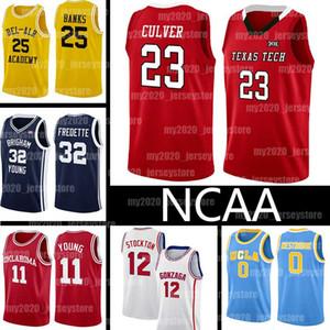 NCAA Texas Tech College 23 Jarrett Culver LeBron James Russell 23 0 Westbrook Jerseys 25 Carlton Banks 32 Jimmer Fredette Junge Basketball