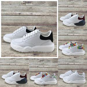 Migliori scarpe casual scarpe da tennis Trainer della piattaforma delle donne degli uomini bianco navy nero rosso blu formatori multicolore arcobaleno bagliore nel buio Sneakers