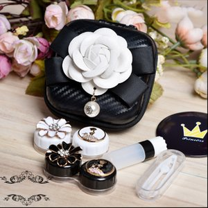 Lovely Flowers Contact Lens Case Box With Mirror Travel Kit 2Pairs Container For Contact Lens Lenses Storage Box Glasses Case
