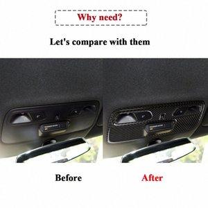 Fibra de Carbono real Inner molduras de quadros Tampa Automotive Interior Etiqueta guarnição Para Camaro PPLB #