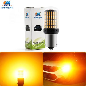 CanBus P21W T20 7440 W21W LED Bulbs 3014 144 smd led No Error 1156 BA15S BAU15S PY21W lamp For Turn Signal Light No Flash 1X