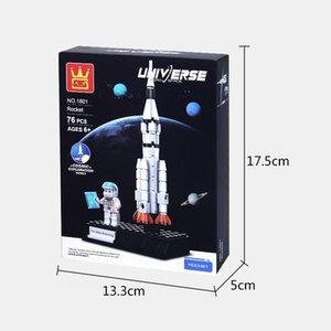 الآلات للأطفال الفضاء مثيرة للاهتمام سلسلة من الجزيئات كتل بناء صغير الإبداعية رواية كتل البلاستيك اللغز التجمع و tujq
