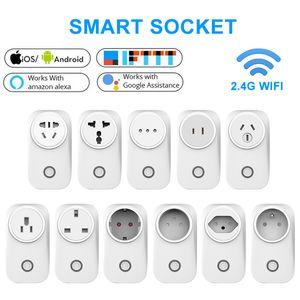 WIFI Smart Socket Smart Plug EU UK Switch AU BR FR JP Israel Ita ZA Plug 10A 16A Remote Control Alexa Google Home Energy Monitor
