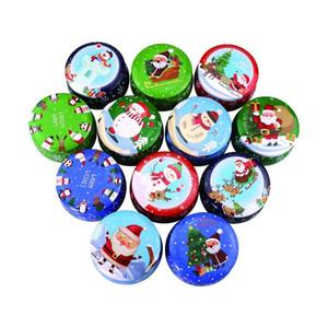 Рождество Tin Box Tinplate Свечи Подсвечники Jar Многоцелевой конфеты Подарочные коробки Малый баночное банок барабан Форма для хранения контейнеров