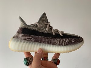 2020 New Arrival Kanye West Top Fábrica Quality Real Basf inferior Israfil Zyon Azriel Cinder linho Marsh Reflective GID V2 Homens Running Shoes