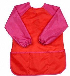 Enfants Tabliers Bavette Vêtements pour enfants Peinture imperméable Tabliers bébé Manger repas Peinture à manches longues Smock Convient pour 5-7Years GGA735 HCXW #