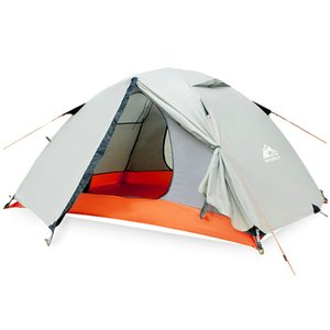 Outdoor-Profi Double Double Zelt Backpacking Tent Camping Schicht wasserdichte bewegliche Aluminiumstangen Reise Zelte