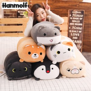 Longas Animais Plush Toy Stuffed mole animal Bolster Cat Dog Pillow Shiba Inu Pinguim cilíndrico Plushie Toy Dormir amigo 200924