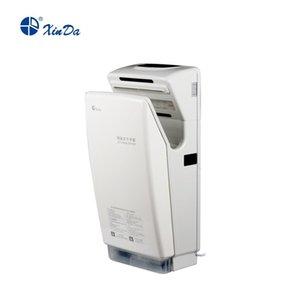 El sensor de infrarrojos automático Xinda GSQ 70A ABS blanco BLDC Profesional Jet secador de manos con filtro de aire de fibra y del tanque de agua