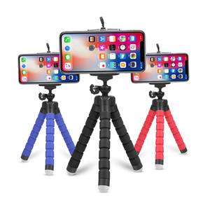 Flexible Tripod-Telefon-Halter Selfie Stock-Stativ-Universalstandplatz tragbare Stativadatper für Mobiltelefon Selfie Einbeinstativ