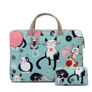 "Netbook shoulder bag Laptop case for MacBook Air 2020 Pro Retina 11""13.3"" for Xiaomi 12.5"" 15.6"" Cats Pattern Style Cute 2020 k600g"