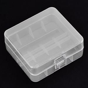 Cgjxsvbestlife 5pcs / Packs portátil de soporte de la batería del estuche rígido Pp transparente caja de almacenaje durante 2 x 26650 baterías con gancho